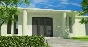 maison avec patio interieur